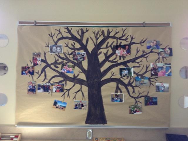 family tree with photos