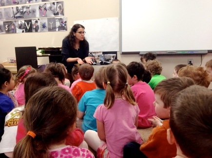 architect speaking to kindergarten class